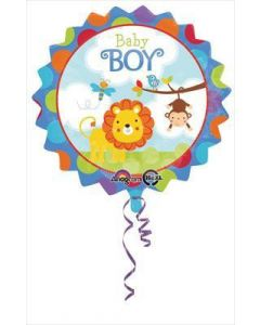 "anagram 18"" baby boy safari balloon"