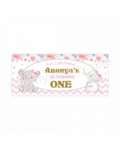 Personalized Baby Elephant Theme Banner 30in