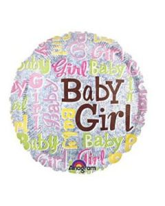 "anagram 18"" - baby girl balloon"