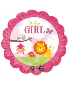 "anagram 18"" baby girl safari balloon"