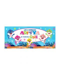 Personalized Baby Shark Theme Banner 30in