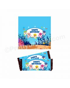 Baby Shark Theme Chocolate Wrappers