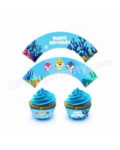 Baby Shark Theme Cupcake Wrappers