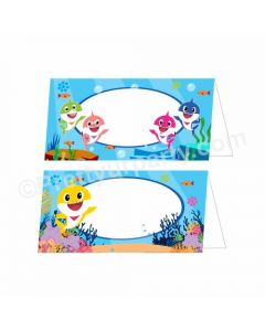 Baby Shark Theme Food Labels / Buffet Table Cards