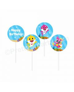 Baby Shark Theme Cupcake / Food Toppers
