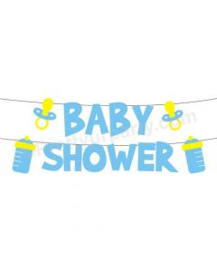 Blue Baby Shower Bunting