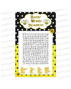 Mom to Bee word search game