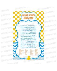 Rubber duck Word Search game