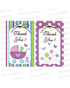 purple and green thankyou cards