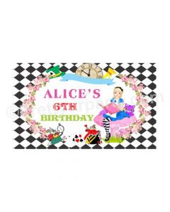 Alice in Wonderland Theme Backdrop