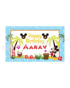 Mickey Mouse Luau Theme Backdrop