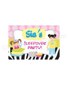Slumber / Sleepover Birthday Theme Backdrop