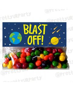 Space Treat Bag Toppers
