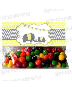 Elephant Baby shower Treat Bag Toppers
