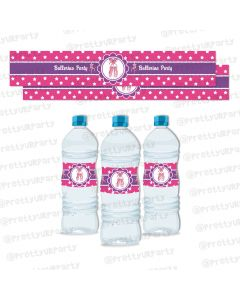 ballerina  water bottle labels