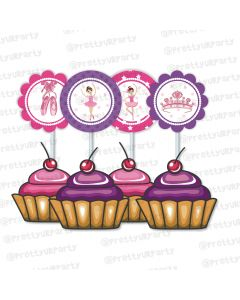 ballerina  theme cupcake / food toppers
