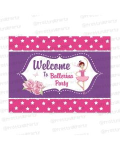 ballerina theme entrance banner / door sign