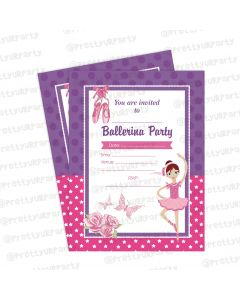 ballerina theme invitations