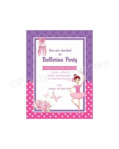 Ballerina Party E-Invitations