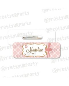 Ballerina Theme Badge / Name Tag
