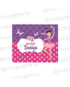 Ballerina themed Best Wishes card