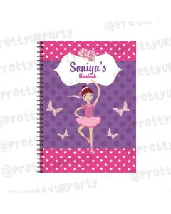 Ballerina Note Books with coloured Pages