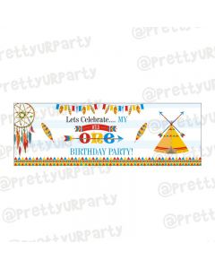 Personalized Wild One Theme Banner 36in