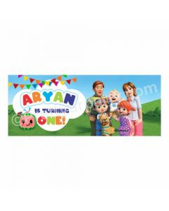 Personalized Cocomelon Theme Banner 30in
