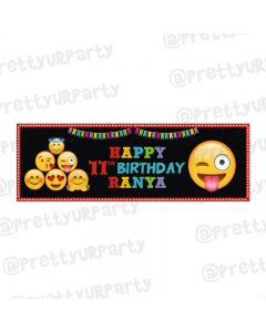 Personalized Emoji Theme Banner 36in