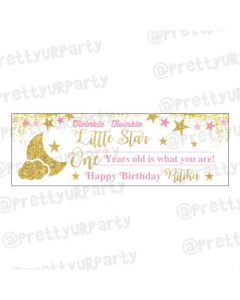 Personalized Twinkle Girl Banner 36in