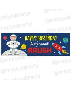 Personalized Space Theme Banner 36in