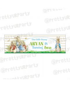 Personalized Peter Rabbit Theme Banner 36in