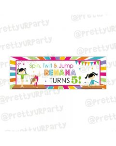 Personalized Gymnastics Theme Banner 36in