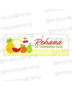 Personalized Tutti Fruiti Theme Banner 36in