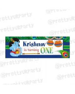 Personalized Krishna Theme Banner 36in