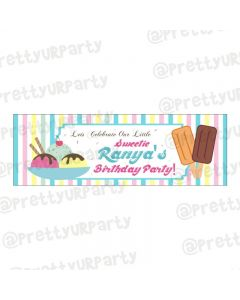 Personalized Ice Cream Theme Banner 36in
