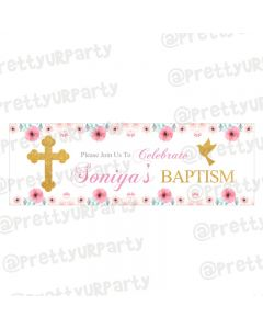 Personalized Baptism Theme Banner 36in