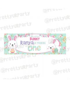 Personalized Some Bunny is One Theme Banner 36in