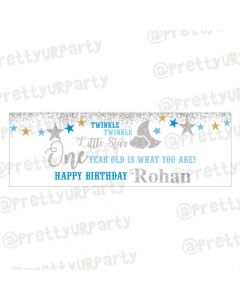 Personalized Twinkle Boy Banner 36in