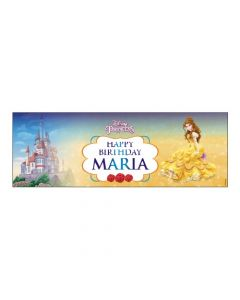 Personalized Belle Birthday Banner 36in