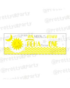 Personalized Sun and Moon Banner 36in