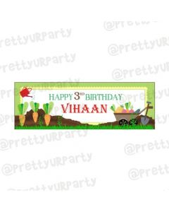 Personalized Gardening Theme Banner 36in