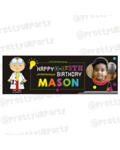 Personalized Mad Scientist Theme Banner 36in