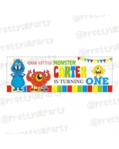 Personalized Monster Theme Banner 36in