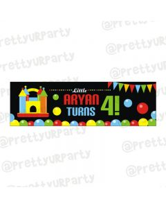 Personalized Ball Theme Banner 36in