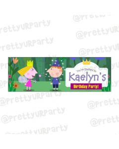 Personalized Ben and Holly's Little Kingdom Theme Banner 36in