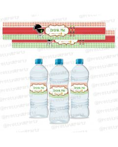 Barbeque Water Bottle Labels