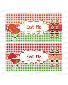 barbeque theme food labels / buffet table cards