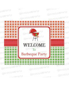 barbeque theme entrance banner / door sign