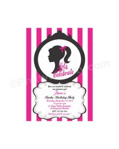 Barbie Theme E-Invitations